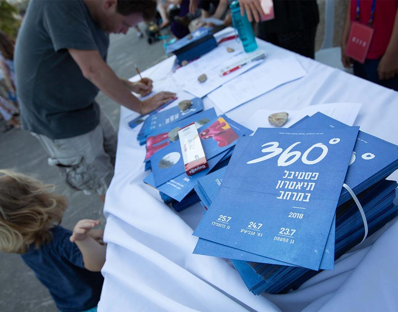 עיצוב גרפי לפליירים - פסטיבל 360